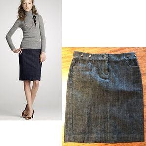 J. Crew denim pencil skirt stretch jeans